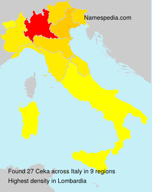 Surname Ceka in Italy