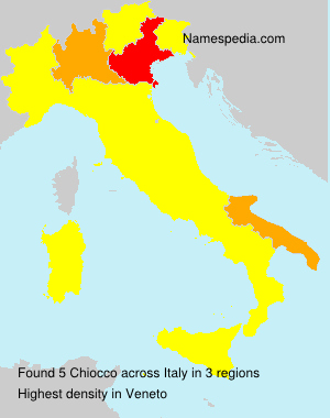 Surname Chiocco in Italy