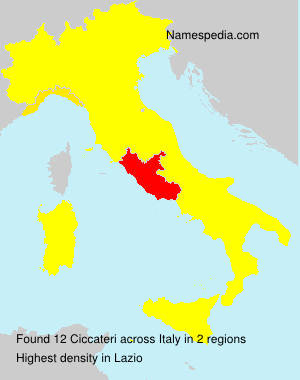 Surname Ciccateri in Italy