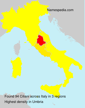 Surname Ciliani in Italy