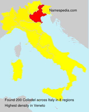 Surname Collodel in Italy