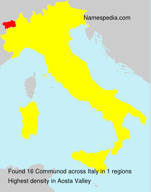 Surname Communod in Italy