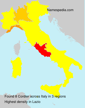 Surname Cordier in Italy