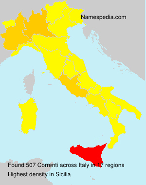 Surname Correnti in Italy
