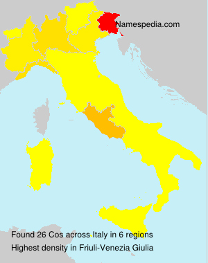 Surname Cos in Italy