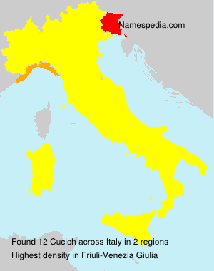 Surname Cucich in Italy