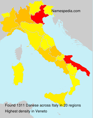 Surname Danese in Italy