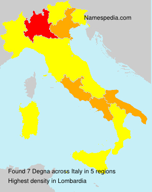Surname Degna in Italy