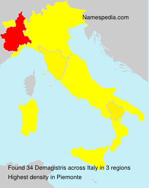 Surname Demagistris in Italy