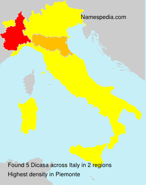 Surname Dicasa in Italy