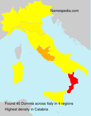 Surname Domma in Italy