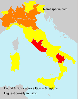 Surname Dutra in Italy
