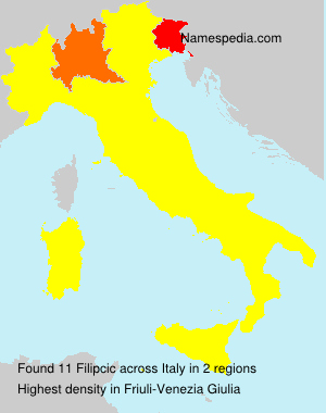 Surname Filipcic in Italy