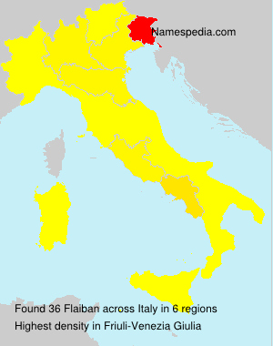 Surname Flaiban in Italy