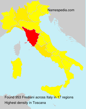 Surname Frediani in Italy