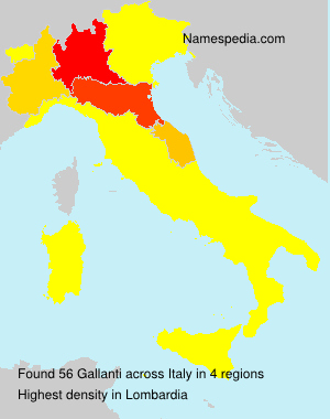 Surname Gallanti in Italy