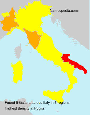 Surname Gallara in Italy