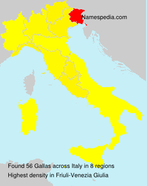 Surname Gallas in Italy