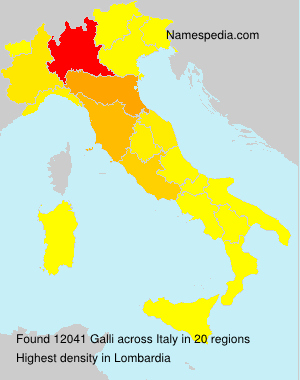 Surname Galli in Italy