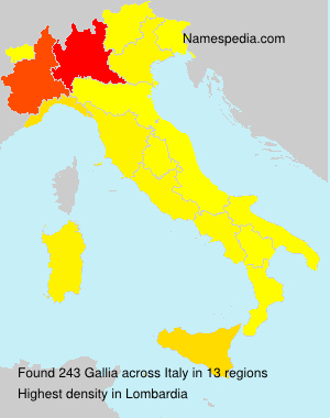 Surname Gallia in Italy