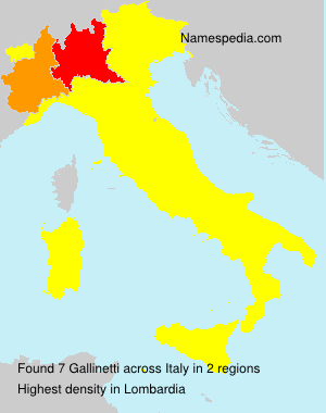 Surname Gallinetti in Italy