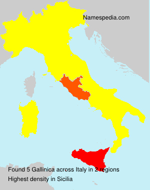 Surname Gallinica in Italy