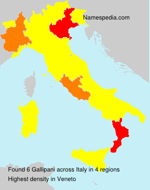 Surname Gallipani in Italy