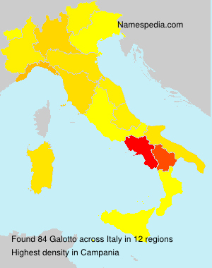 Surname Galotto in Italy
