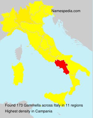 Surname Gammella in Italy