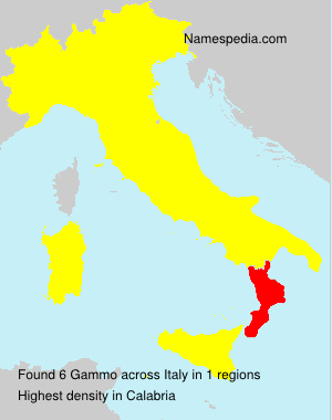 Surname Gammo in Italy