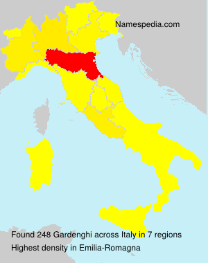 Surname Gardenghi in Italy
