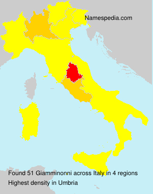 Surname Giamminonni in Italy