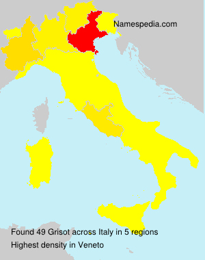 Surname Grisot in Italy