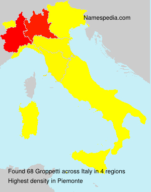 Surname Groppetti in Italy