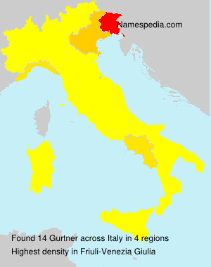 Surname Gurtner in Italy