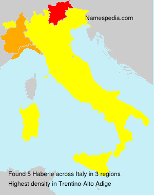Surname Haberle in Italy