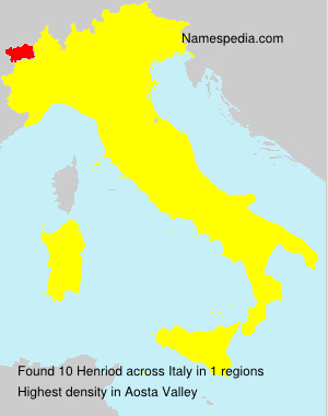 Surname Henriod in Italy