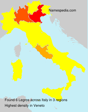 Surname Legros in Italy