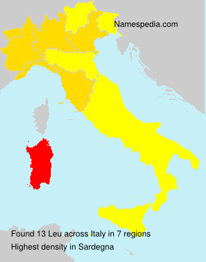Surname Leu in Italy