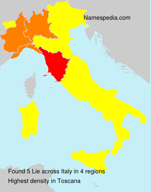 Surname Lie in Italy