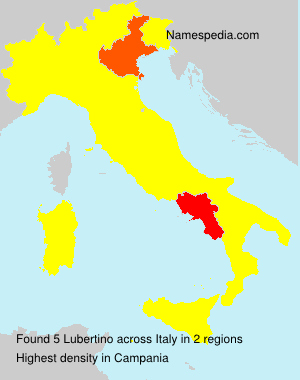 Surname Lubertino in Italy