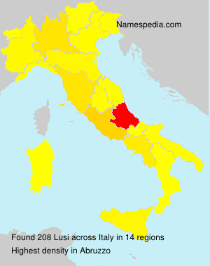 Surname Lusi in Italy