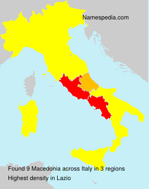 Surname Macedonia in Italy