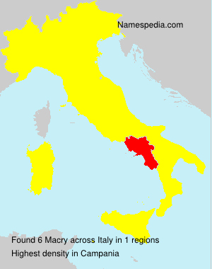 Surname Macry in Italy