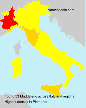 Surname Maddaleno in Italy