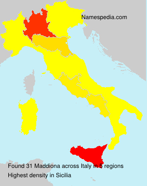 Surname Maddiona in Italy