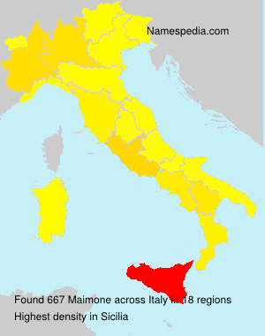 Surname Maimone in Italy