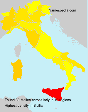 Surname Malleo in Italy