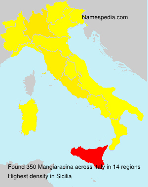 Surname Mangiaracina in Italy