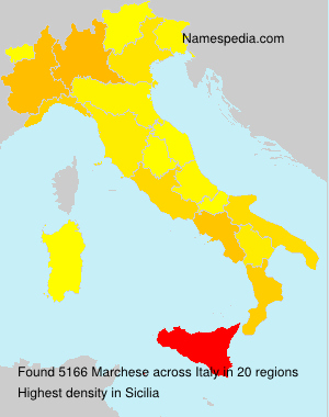 Surname Marchese in Italy